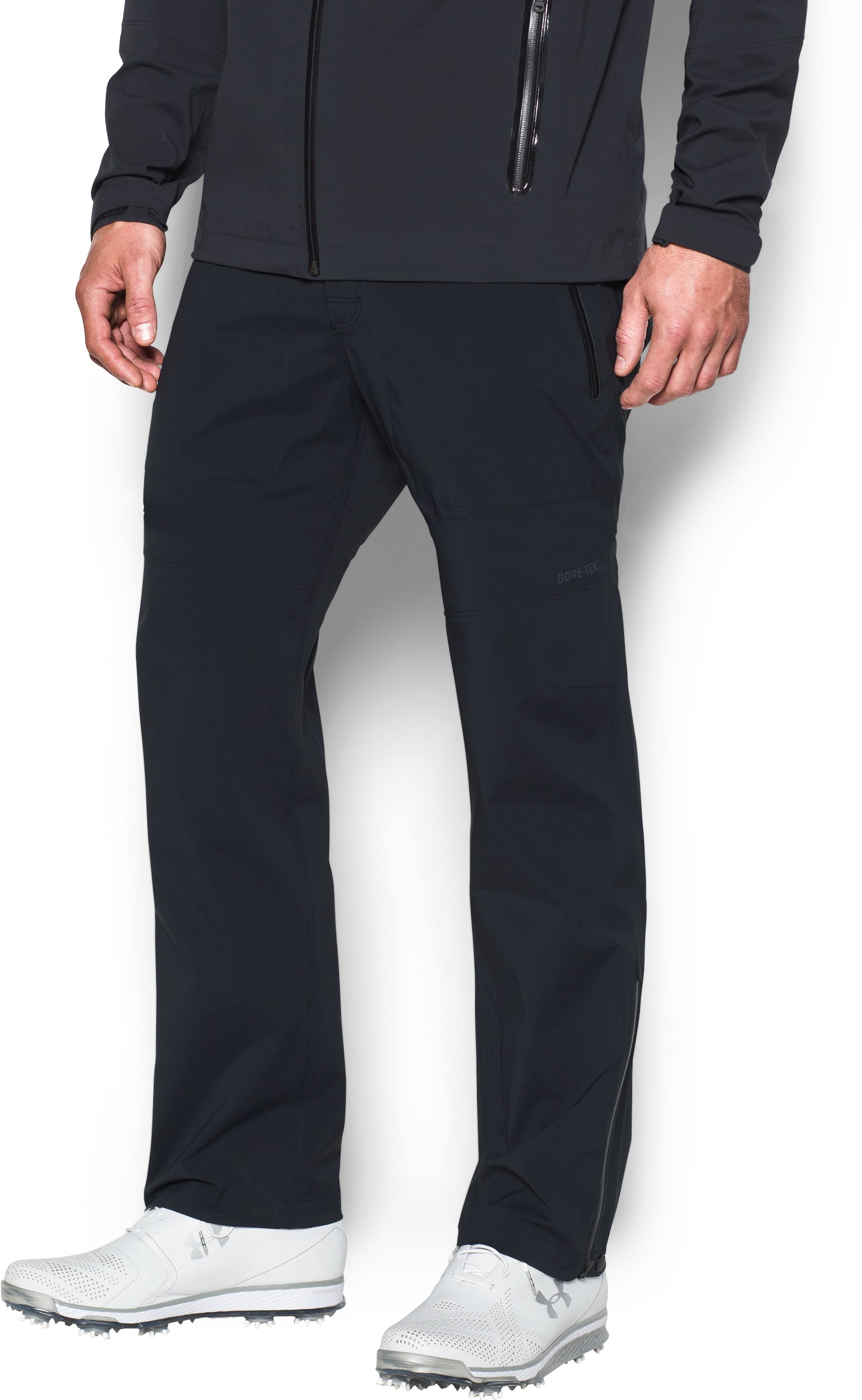 Men's UA Storm GORE-TEX® Paclite® Pants Tapered, Black , undefined