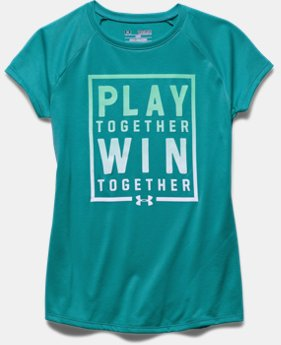 Girls' UA Play Win Together Short Sleeve T-Shirt