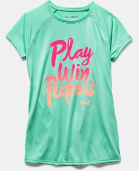 Girls' UA Play Win Repeat Short Sleeve T-Shirt
