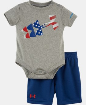 New Arrival Boys' Newborn UA Graphic Bodysuit Shorts Set  2 Colors $34.99