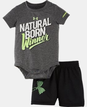 Boys' Newborn UA Graphic Bodysuit Shorts Set