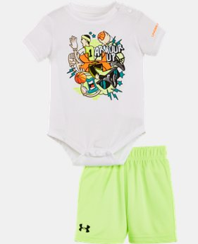 New Arrival Boys' Newborn UA Graphic Bodysuit Shorts Set LIMITED TIME: FREE U.S. SHIPPING 1 Color $26.99