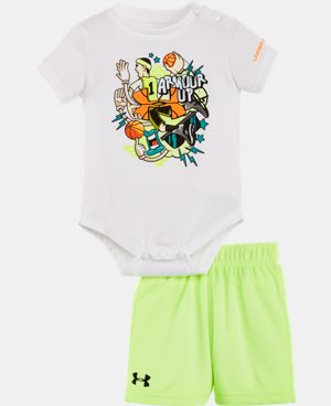Boys' Newborn UA Graphic Bodysuit Shorts Set  1 Color $34.99