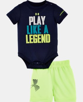 New Arrival Boys' Newborn UA Graphic Bodysuit Shorts Set  1 Color $34.99