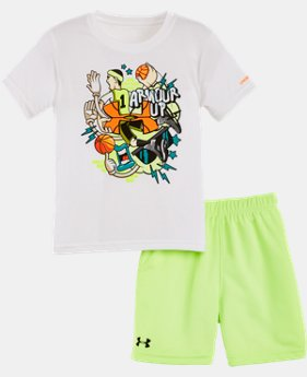 Best Seller Boys' Infant UA Graphic Shorts Set LIMITED TIME: FREE SHIPPING  $34.99