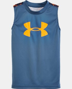 Boys' Pre-School UA Mega Micro Camo Tank LIMITED TIME: FREE SHIPPING 1 Color $21.99