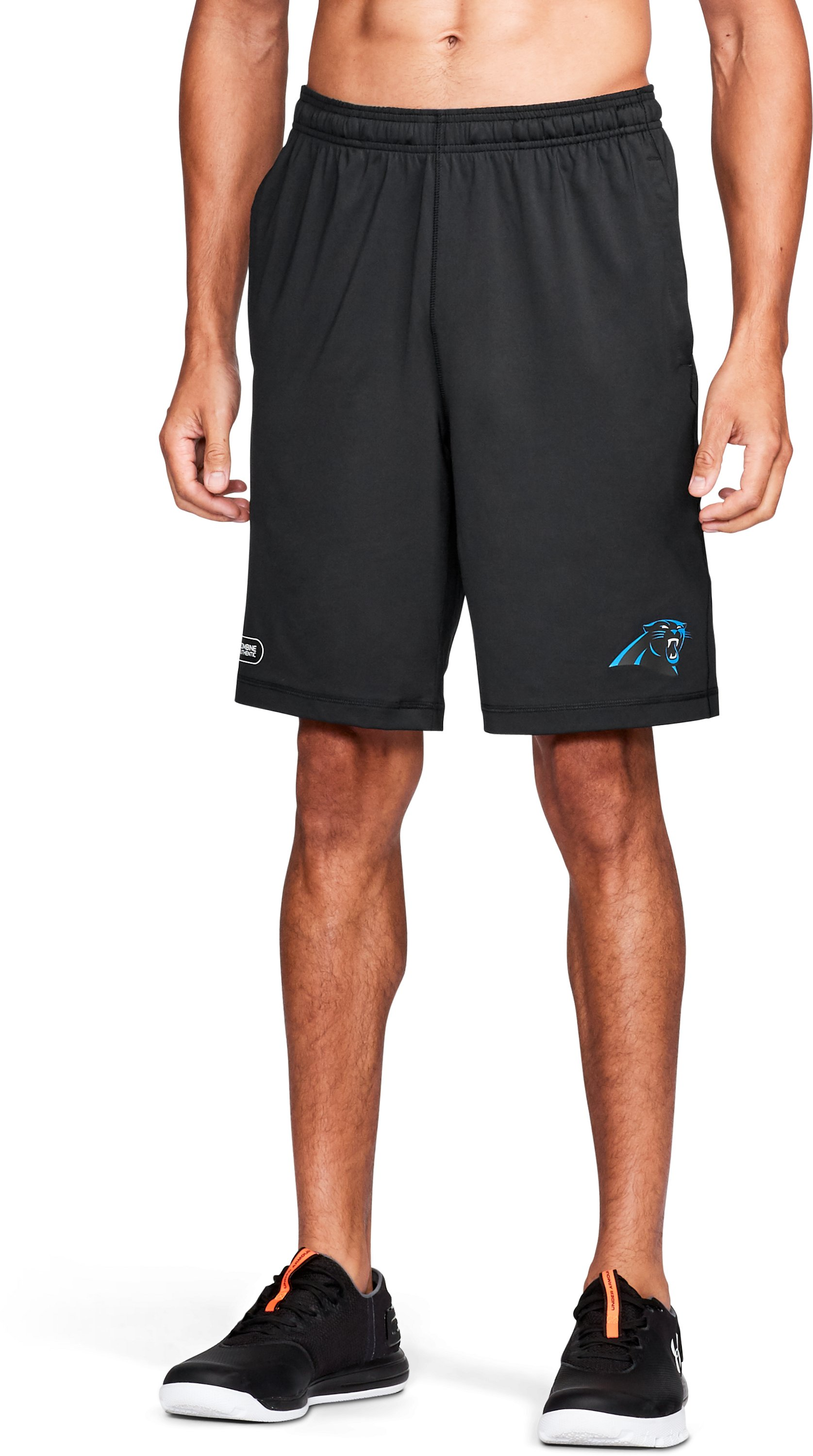 Men's NFL Combine Authentic UA Raid Shorts, Carolina Panthers