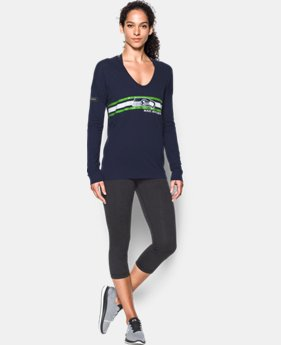 New Arrival Women's NFL Combine Authentic UA Collegiate Long Sleeve T-Shirt  LIMITED TIME: FREE SHIPPING 2 Colors $49.99