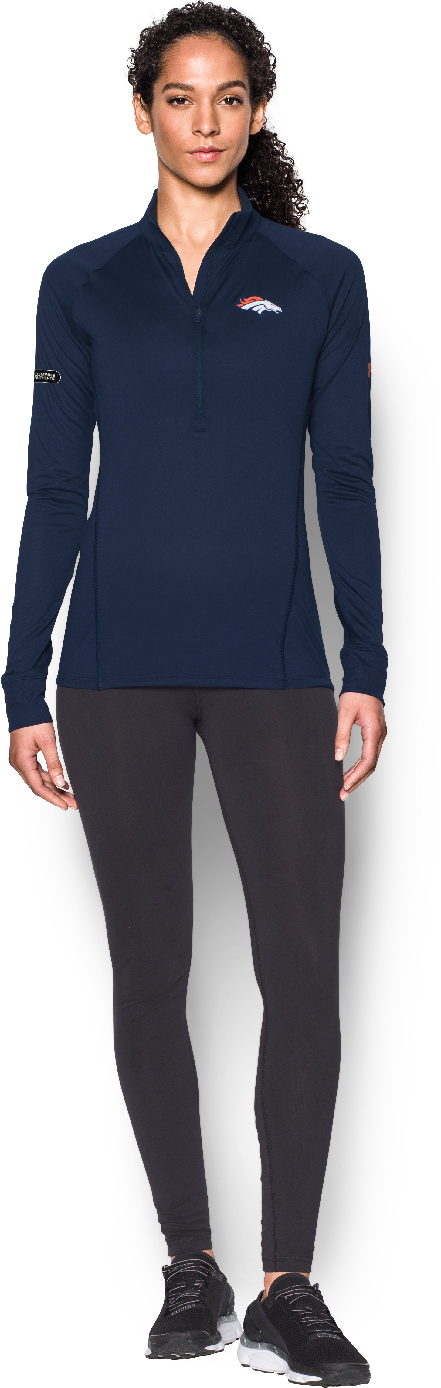 Women's NFL Combine Authentic UA Tech™ ½ Zip, Denver Broncos