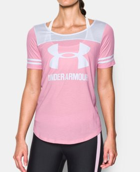 Women 39 s short sleeve shirts under armour ca for Under armour brown t shirt