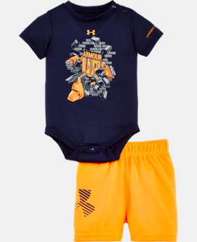 Boys' Newborn UA Rookie Pro Legend Bodysuit Set LIMITED TIME: FREE SHIPPING 1 Color $32.99