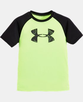 Boys' Toddler UA Marble Raglan Short Sleeve T-Shirt LIMITED TIME: FREE SHIPPING 1 Color $17.99