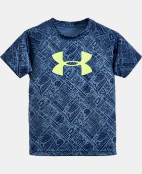 Boys' Toddler UA Show Me Sweat Big Logo Short Sleeve T-Shirt   $24.99