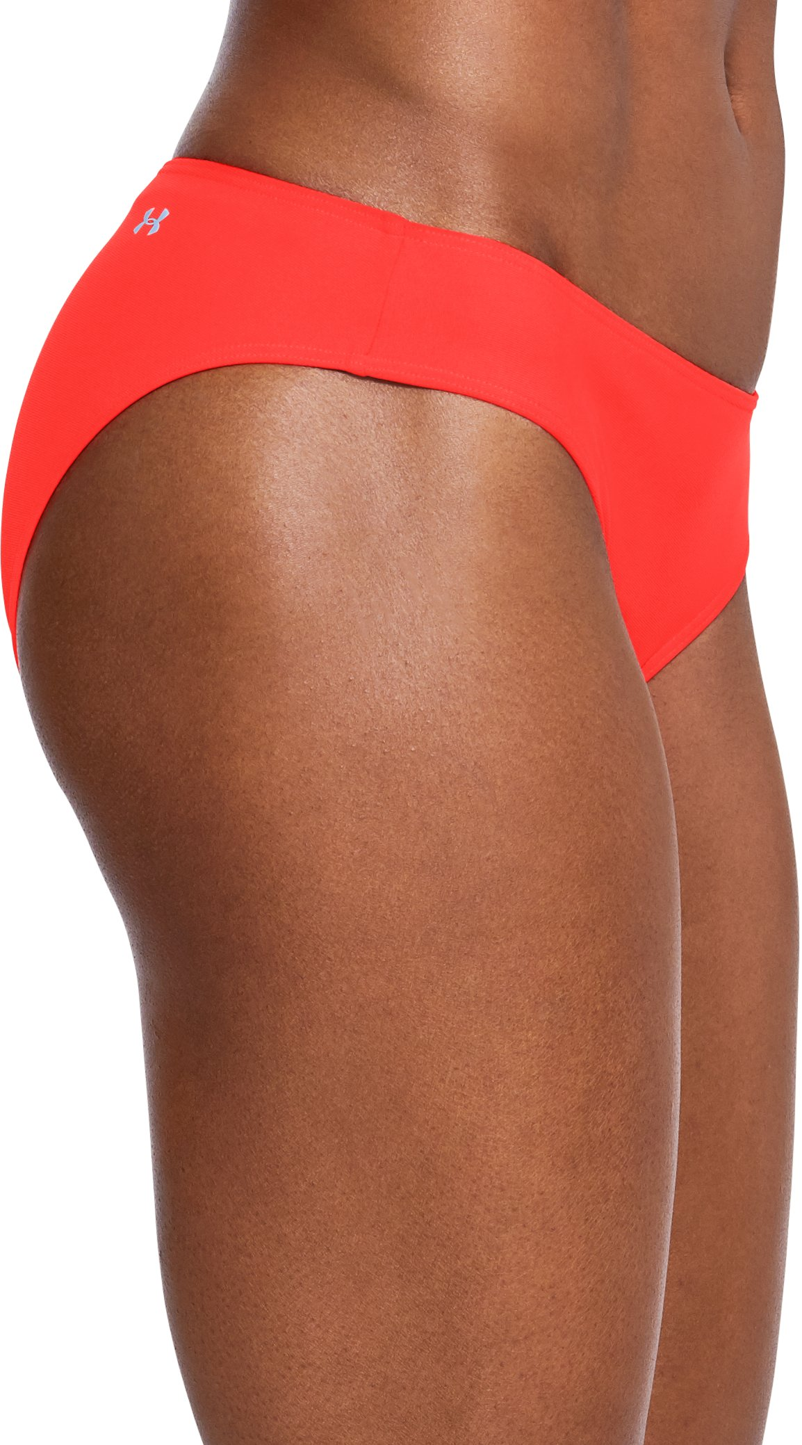 Women's UA Microthread Swim Bottom, NEON CORAL,