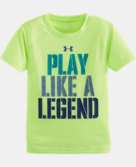 Boys' Pre-School UA Play Like A Legend Short Sleeve T-Shirt LIMITED TIME: FREE SHIPPING  $17.99