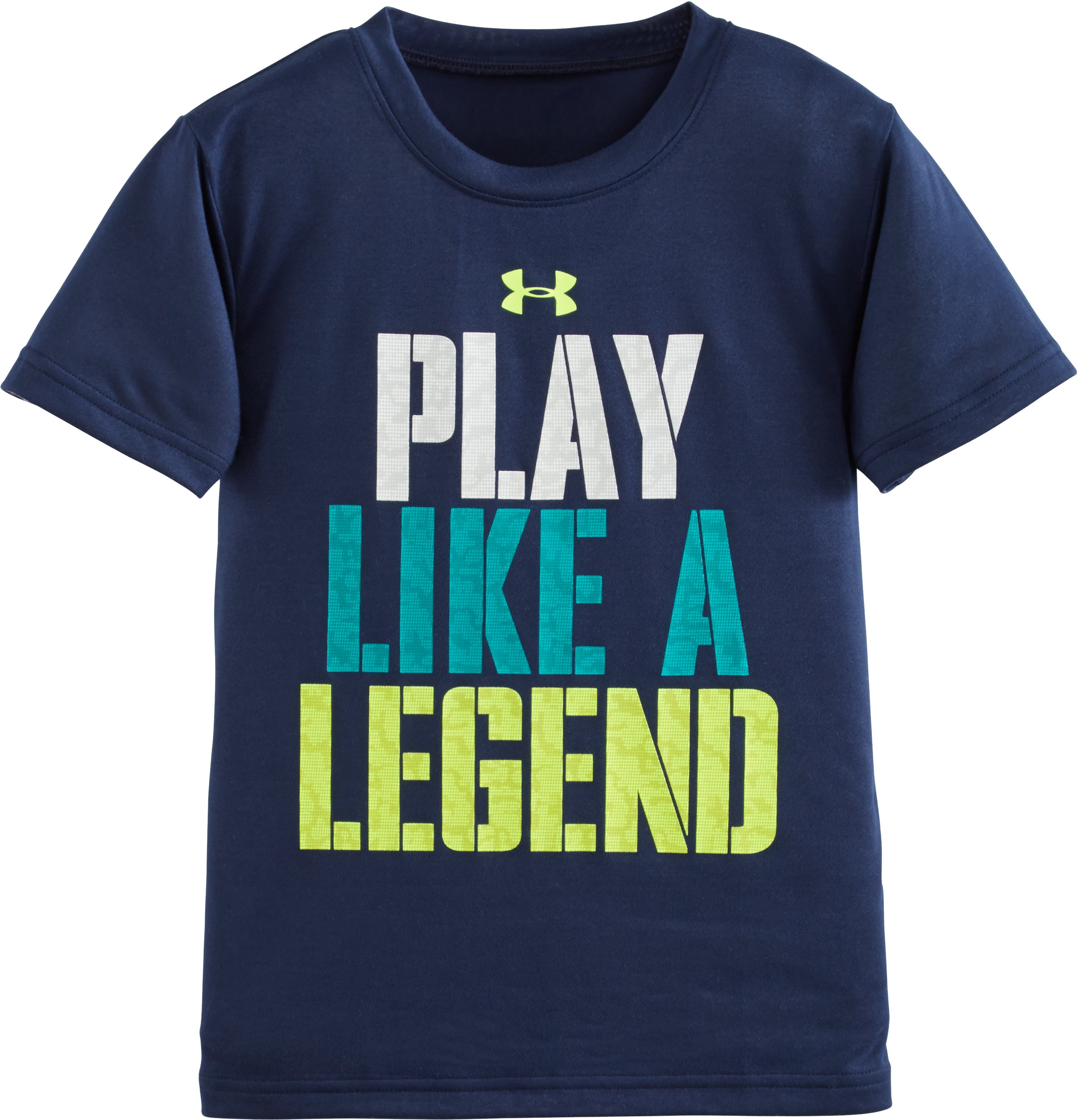 Boys' Pre-School UA Play Like A Legend Short Sleeve T-Shirt, NAVY SEAL, zoomed image