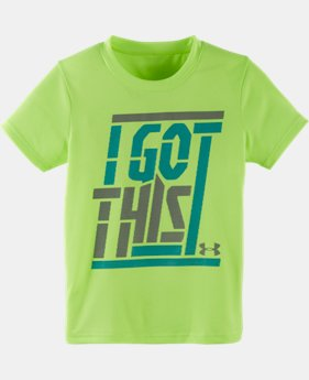 Boys' Toddler UA I Got This Short Sleeve T-Shirt LIMITED TIME: FREE SHIPPING 1 Color $17.99