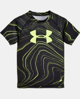 Boys' Pre-School UA Marbled Big Logo Short Sleeve T-Shirt   $24.99