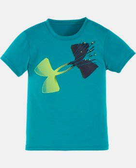 Boys Pre-School UA Logo Smash Short Sleeve T-Shirt