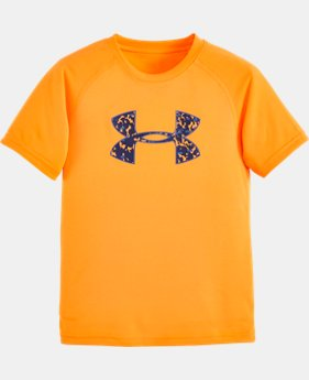 Boys' Toddler UA Big Logo Micro Camo T-Shirt