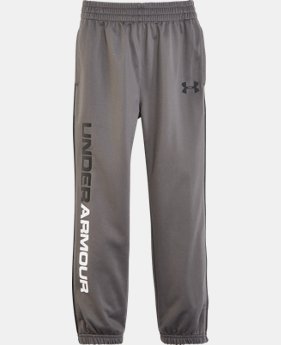 Boys' Pre-School UA Tapered Warmup Pants   $27.99
