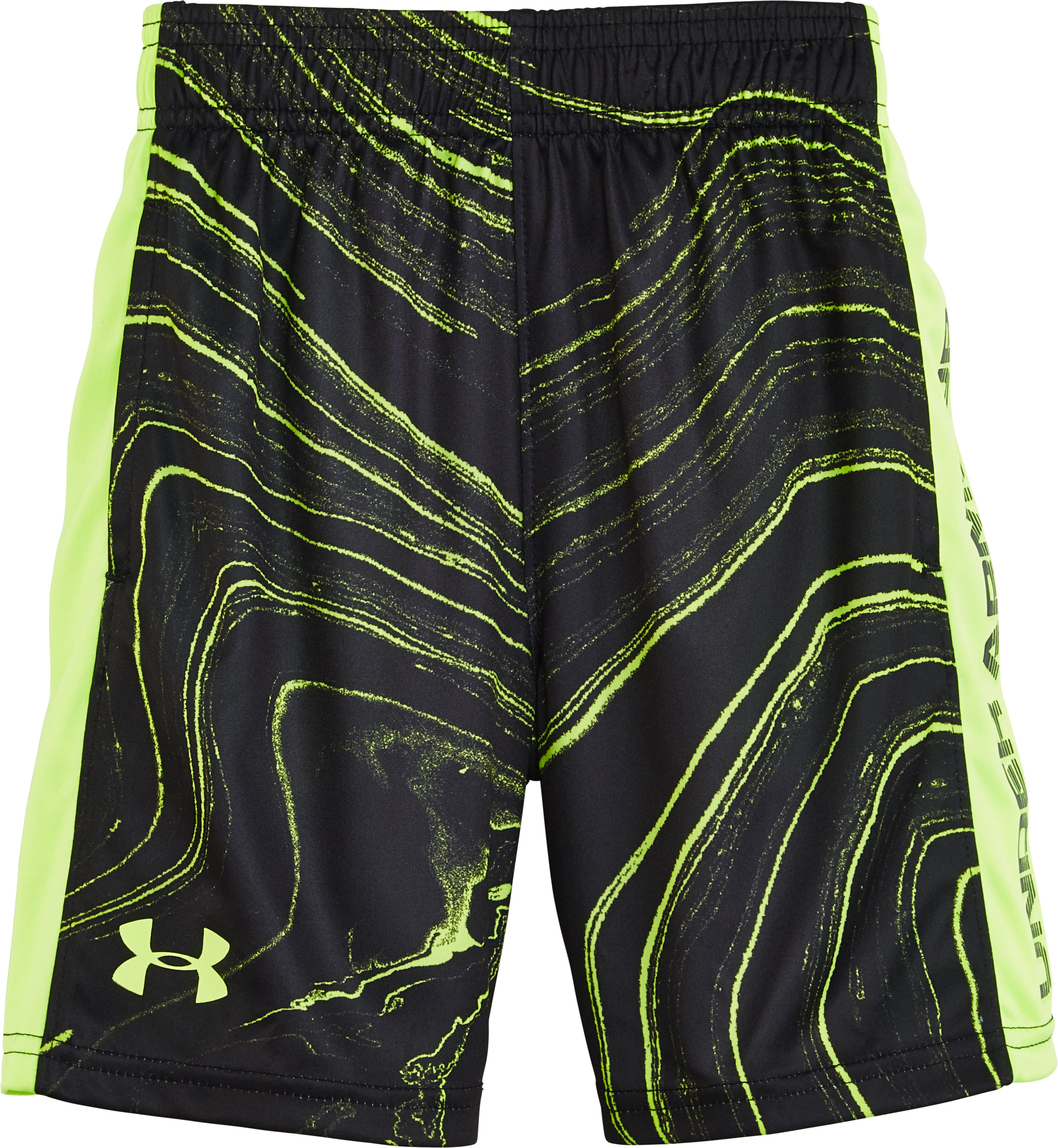 Boys' Toddler UA Marbled Eliminator Shorts, FUEL GREEN, zoomed image