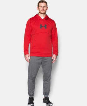 New Arrival Men's UA Storm Armour® Fleece Logo Hoodie  1 Color $54.99