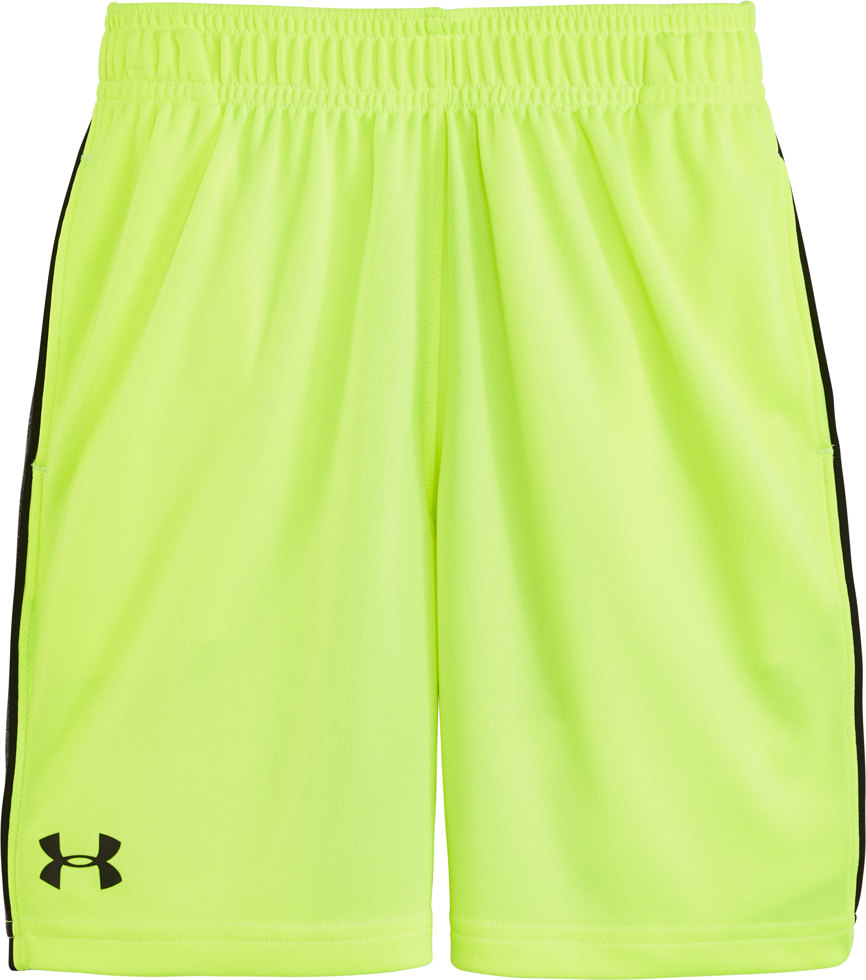 Boys' Pre-School UA Zinger Shorts, FUEL GREEN, Laydown