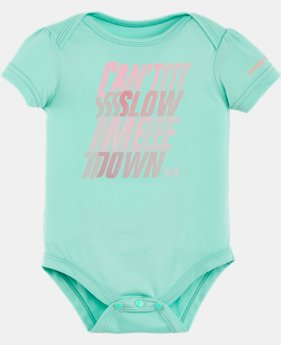 Girls' Newborn UA Can't Slow Me Down Bodysuit   $14.99