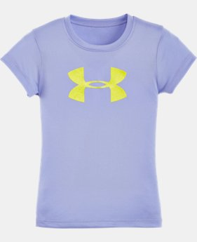 Girls' Pre-School UA Glitter Big Logo Short Sleeve T-Shirt