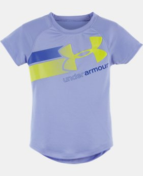 Girls' Toddler UA Fly-By Logo Short Sleeve T-Shirt LIMITED TIME: FREE U.S. SHIPPING  $16.99