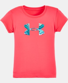 Girls' Pre-School UA Tide Big Logo T-Shirt  1 Color $17.99