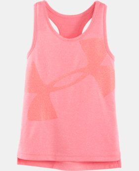 Girls' Pre-School UA Glitter Logo Luna Tank LIMITED TIME: FREE SHIPPING 1 Color $19.99