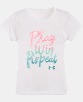 Girls' Pre-School UA Play Win Repeat T-Shirt LIMITED TIME: FREE SHIPPING  $17.99