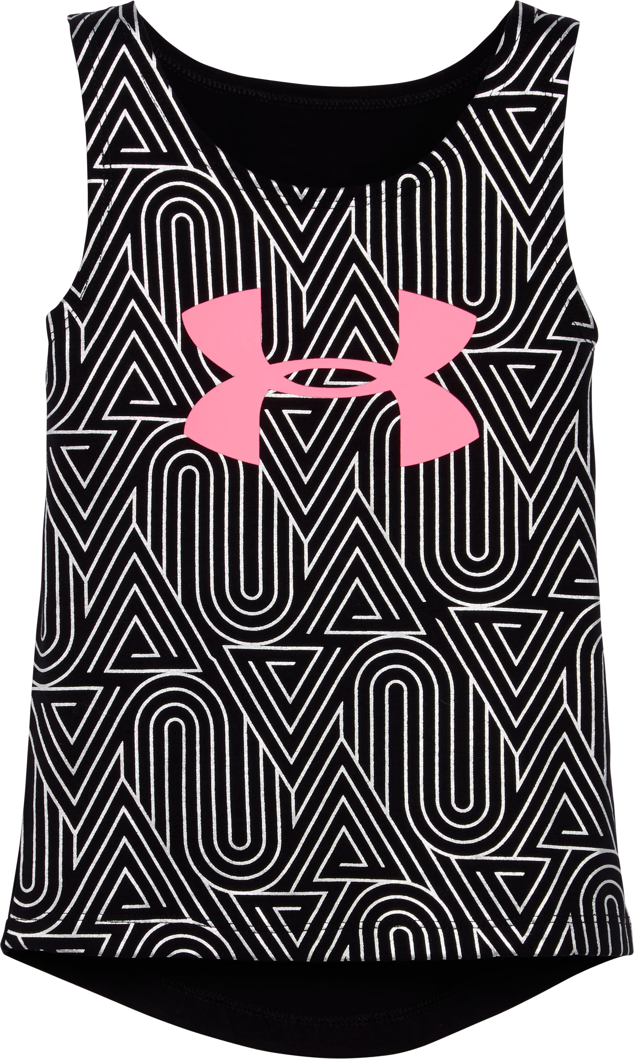 Girls' Toddler UA Run Tank, Black , Laydown
