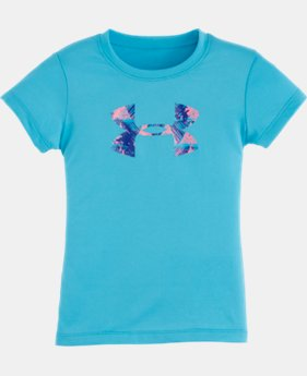 Girls' Pre-School UA Knockout Big Logo Short Sleeve T-Shirt LIMITED TIME: FREE U.S. SHIPPING 1 Color $13.99