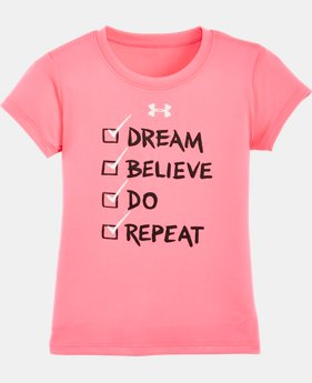 Girls' Pre-School UA Checklist Short Sleeve T-Shirt
