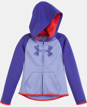 Girls' Pre-School UA Armour® Fleece Big Logo Zip Hoodie