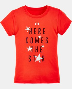 Girls' Pre-School UA Here Comes The Star Short Sleeve T-Shirt LIMITED TIME: FREE SHIPPING 1 Color $17.99