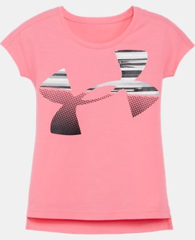 Girls' Pre-School UA Linked Jumbo Logo Short Sleeve T-Shirt   $24.99