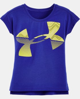 Girls' Pre-School UA Airwaves Jumbo Big Logo Short Sleeve T-Shirt