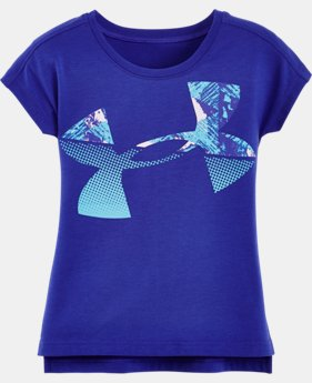 Girls' Pre-School UA Knockout Jumbo Logo Short Sleeve T-Shirt