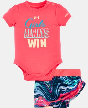 Girls' Newborn UA Graphic Bodysuit Skirt