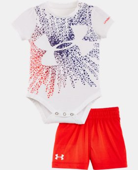 Girls' Newborn UA Starburst Logo Bodysuit Set   $32.99