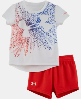 Girls' Infant UA Starburst Logo Set LIMITED TIME: FREE SHIPPING  $32.99