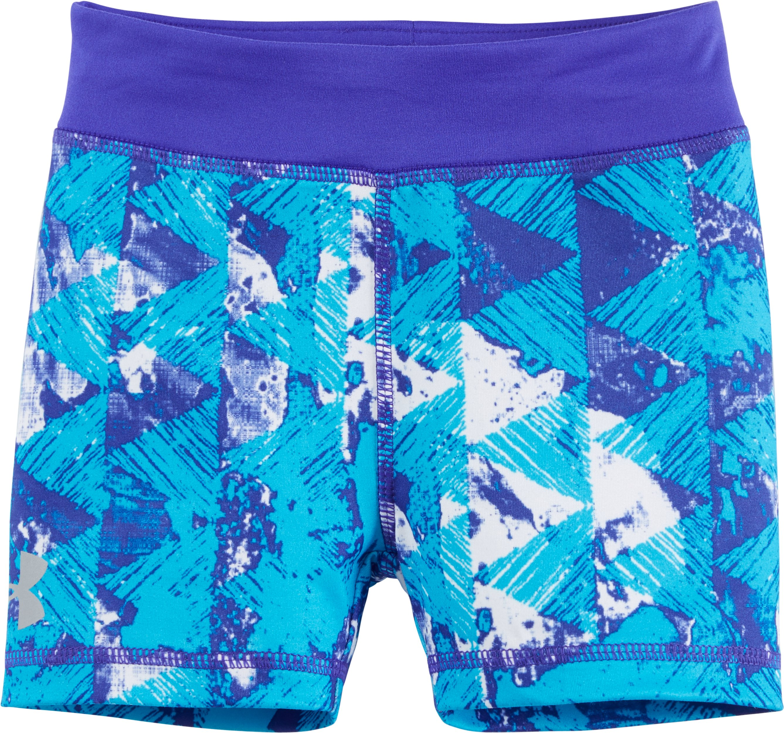 Girls' Pre-School UA Knockout Bike Shorts, CONSTELLATION PURPLE, Laydown