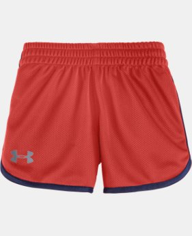 Girls' Pre-School UA Essential Shorts LIMITED TIME: FREE SHIPPING  $17.99