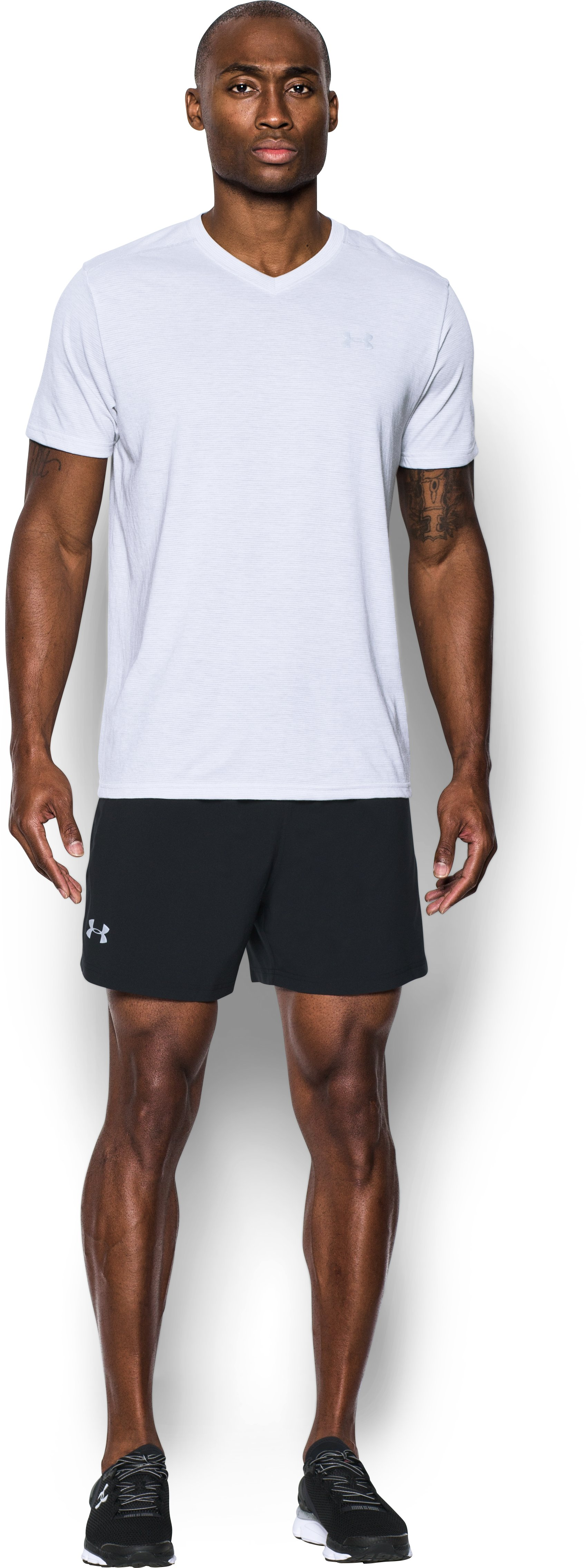 Men's UA Launch SW 5'' Shorts, Black , Front