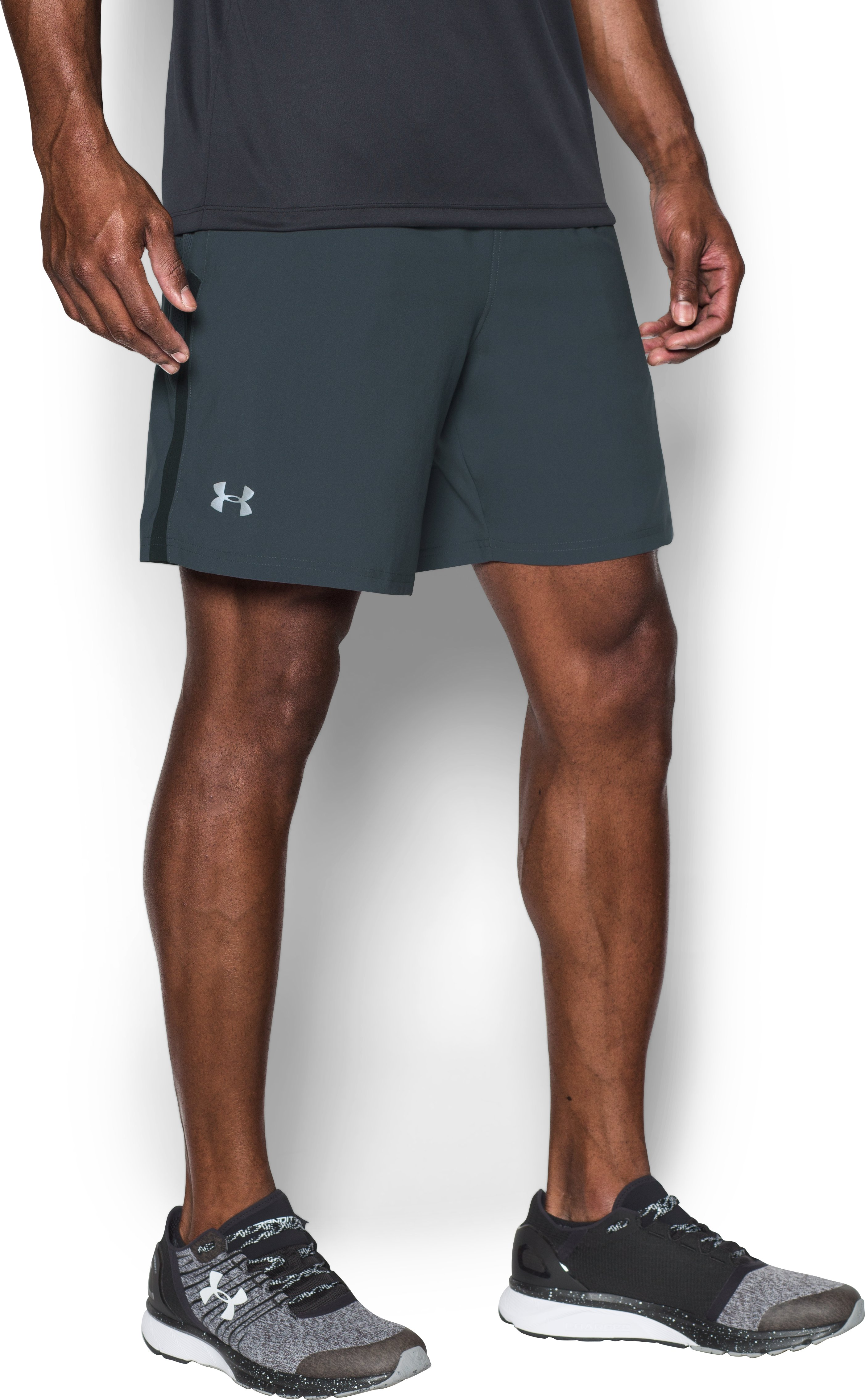 Men's UA Launch SW 7'' Shorts, STEALTH GRAY