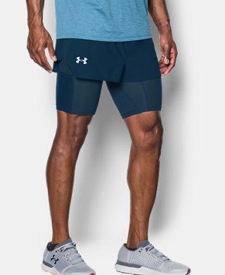 男子UA Transport 2合1短褲